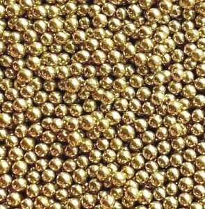 HIGH SHINE GOLD 4MM EDIBLE PEARLS SPRINKLE SUGAR BALL CAKE DECORATION 100s&1000s