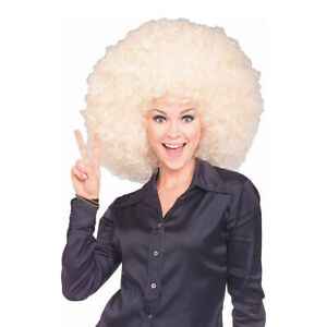 Blonde Giant Afro Wig Super Big Jumbo Disco 70s Costume Large Fro Hair Oversized