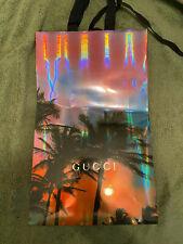 Gucci Holiday Holigraphic Palm Tree Shopping Bag Christmas Good Condition 15x9x3