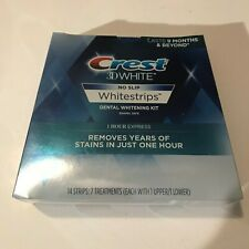 Crest 3D White Whitestrips 1 Hour Express Teeth Whitening Kit 7 Treatments NEW
