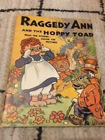 Raggedy Ann And The Hoppy Toad By Johnny Gruelle Vintage 1944 SC, ShipsFree Rare