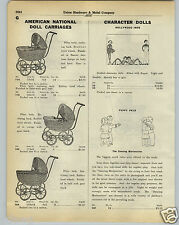 1930 PAPER AD Peppy Pals Dancing Marionettes Hollywood Imp Imps Doll Buggy