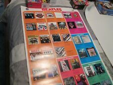 vintage Beatles Capitol and Apple promo lp poster orginally folded