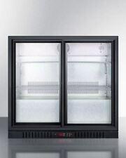 7.4 cu.ft. Commercial Beverage Cooler with Sliding Glass Doors