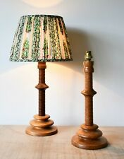 Primitive Wood Lamp with distressed Tin