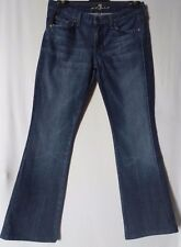 """WOMEN'S JEANS 7 FOR ALL MANKIND BOOTCUT STRETCH SIZE 11/29"""" LEG 31"""" FREE POSTAGE"""