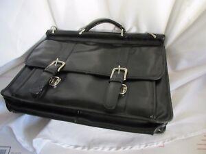 Leather Laptop Messenger Briefcase Bag Satchel Wilsons Mens