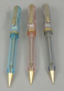 3 Pilot Crystal Transparent .5mm Mechanical Pencil In Three Colors - New