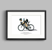 Mark CAVENDISH-TOUR DE FRANCE 2012 art poster format a3
