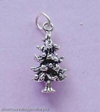 Pine Tree Christmas Charm Pendant STERLING SILVER