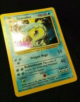 1999 Pokemon GYARADOS BASE SET 6/102 HOLO RARE WOTC NEAR MINT PSA Ready Card UNL