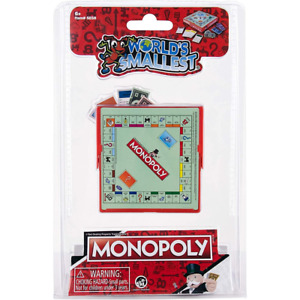 World's Smallest Classic Board Game MONOPOLY Miniature Retro Toy