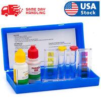 Swimming 2 Way Liquid Test Kit - Ph & Chlorine Levels For Swimming Pool Water