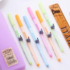 2 Pcs Cute Kawaii Fun Cartoon Gel Ink  Pen Roller Ball Point Korean Gift School.