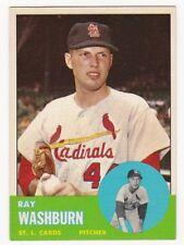 RAY WASHBURN 1963 Topps Baseball  # 206 St. Louis Cardinals Ex Plus