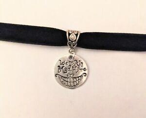 Alice in Wonderland Cheshire cat inspired black choker necklace