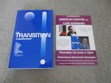 LUKE KENNARD: THE TRANSITION: SIGNED UK FIRST EDITION HARDCOVER & FLYER