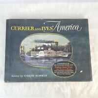 Vintage 1952 Currier And Ives America Lithograph Book 80 Choice Prints Color