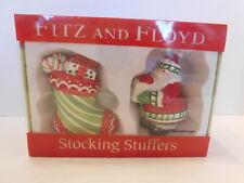 "Nib Fitz And Floyd "" Stocking Stuffers� Salt & Pepper Shakers 2007"