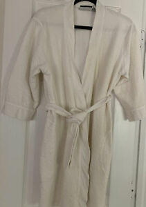 J. Appel Women's Size Large Kimono Long Sleeve White Robe Very Soft