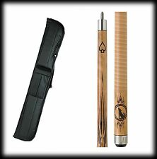 New Outlaw OL13 Pool Cue Stick - Stained Maple w/ Howling Wolf 18 - 21 oz & Case