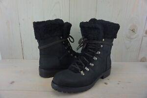 UGG FRASER 1018896 black  LEATHER SHEEPSKIN HIKING SNOW WINTER BOOTS US 11  NIB