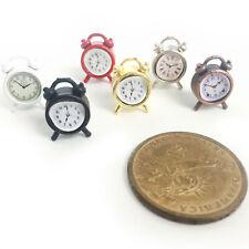 1Pc Dollhouse Old-Fashioned Alarm Clock 1:12 Miniature Accessories Random