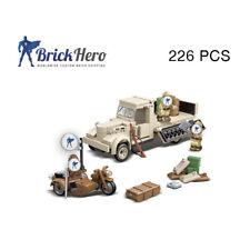 Custom Bricks - ww2 - japanische Soldaten 3 Stk. + Nissan Truck + Motorrad