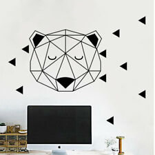 Nordic Style Woodland Bear Wall Stickers Home Decor Geometric Vinyl Wall Decal