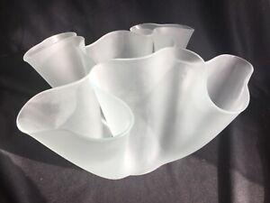 Vintage Fontana Arte Pietro Chiesa Cartoccio Glass Vase Sculpture w Original Box