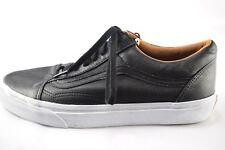 Vans Black Authentic Vegan Leather Skateboarding Shoes Mens 9 Womens 10.5