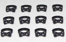 Lego X12 Black Bow Tie / Wedding Groom City Mini Figures Body wear Accessory Lot