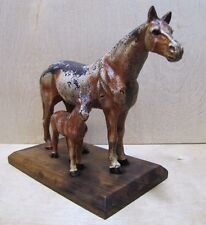 Old Cast Iron Horse Paperweight Decorative Art Statue Doorstop Western Americana