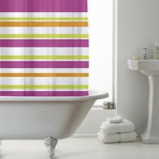Country Club Peva Shower Curtain with Ring Hooks Bright Stripe 180x180cm