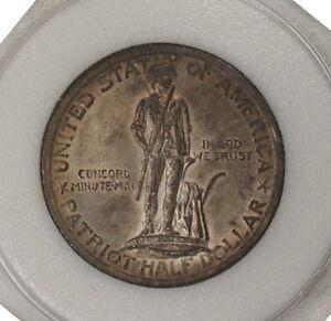 1925 UNC Lexington Silver Half Dollar Commemorative 50c Toned (ER)