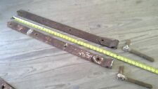 Antique Barn Door Strap Hinges Extra Heavy Hand Forged Pair
