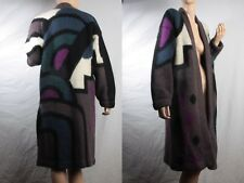 vintage 90's RUNWAY abstract blanket cardigan sweater trench coat jacket M L XL