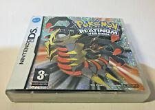 Pokemon Versión Nintendo DS Caja sólo Platinum Sin Juego