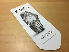 Bookmark - EBEL - Introducing Classic Wave - Point of book - For Collectors