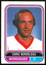 1975 76 OPC O PEE CHEE  WHA 116 CHRIS BORDELEAU NM QUEBEC NORDIQUES HOCKEY CARD