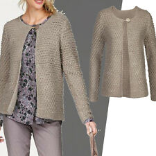 genial WARM Chic Gr.42/44 STRICKJACKE Jacke Cardigan GRAU casual