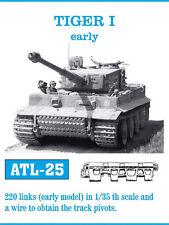 1/35 ATL25 FreeShip FRIULMODEL METAL TRACKS FOR GERMAN TIGER I Early for DRAGON
