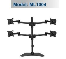 DESK FREE STANDING MONITOR ARM FOR 4 MONITORS ML1004