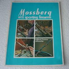 MOSSBERG SPORTING FIREARMS 1972 GUN CATALOG