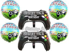 (6) pcs Video Game Controller Gaming Balloons Birthday Party Supplies