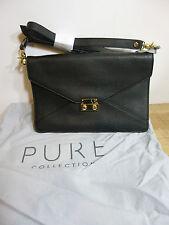 BNWT Pure COLLECTION Pelle Nera Burlington Cross Corpo/clutch handbag
