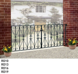 Wrought iron driveway gates metal gates Galvanised and Powder Coated (Regent)