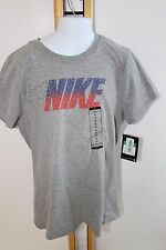 Nike Tee Running Gray Shirt Top Girls Size XL Large 14-16 NWT NEW