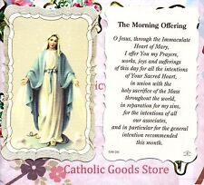 Morning Offering - Scalloped trim - Paperstock Holy Card