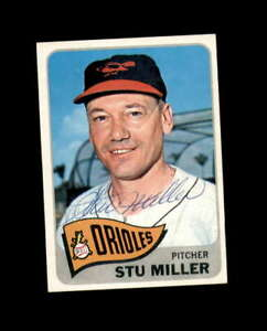 Stu Miller Hand Signed 1965 Topps Baltimore Orioles Autograph